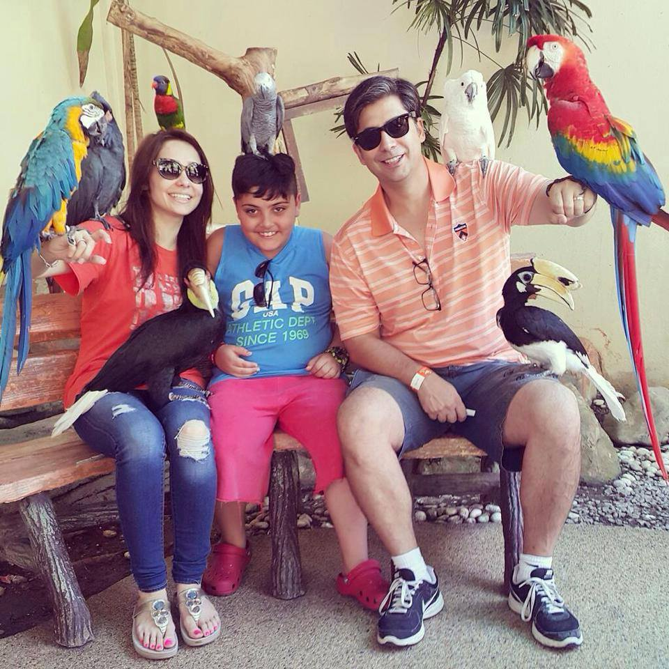 Juggan Kazim In Malaysia With Husband And Son