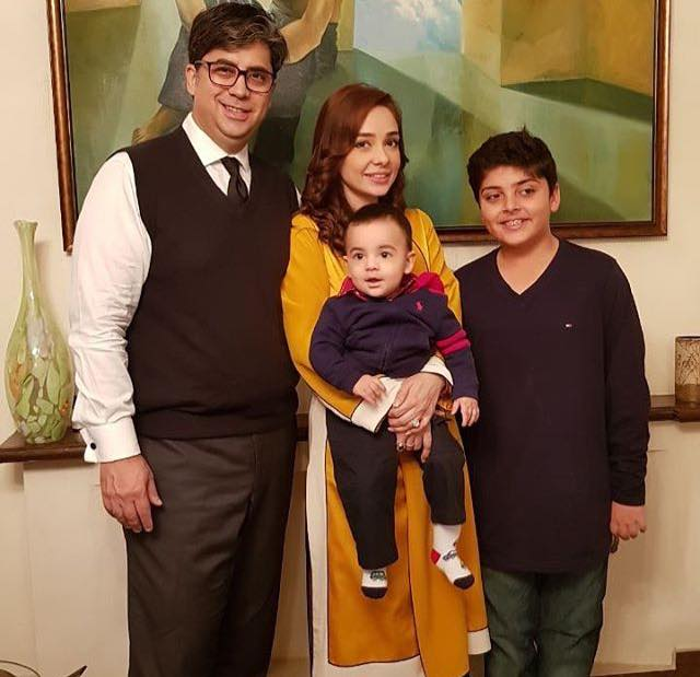 Juggan Kazim With Her Husband & Sons