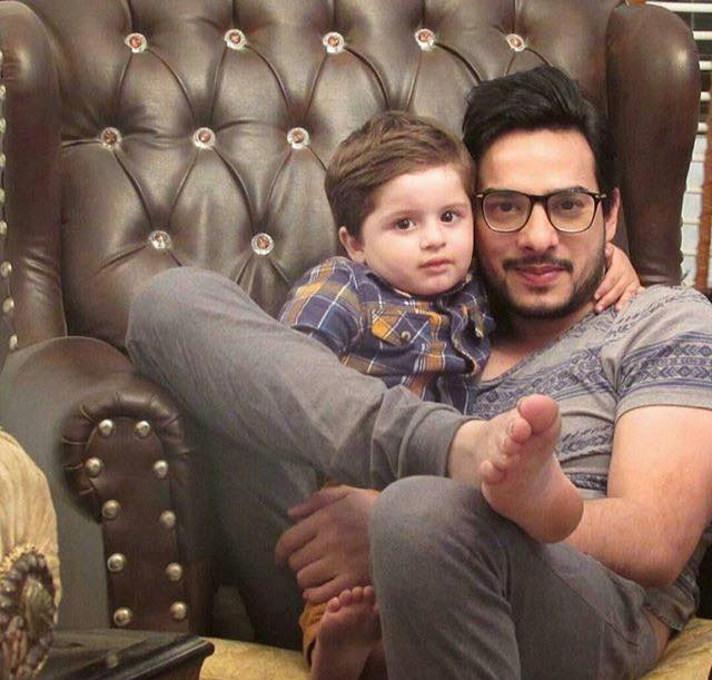 Kanwar Arsalan With His Son Almir