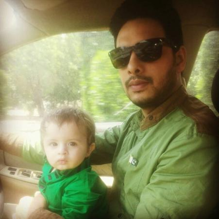 Kanwar Arsalan With His Son On Pakistan Independence day