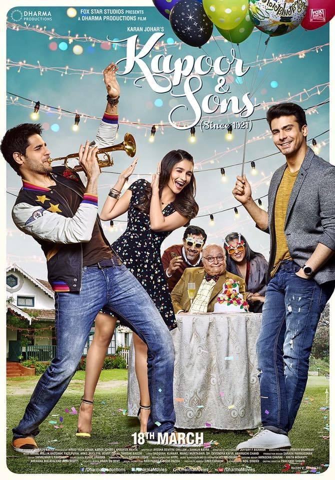 Kapoor and Sons ' starring Sidharth Malhotra, Alia Bhat , Fawad Khan