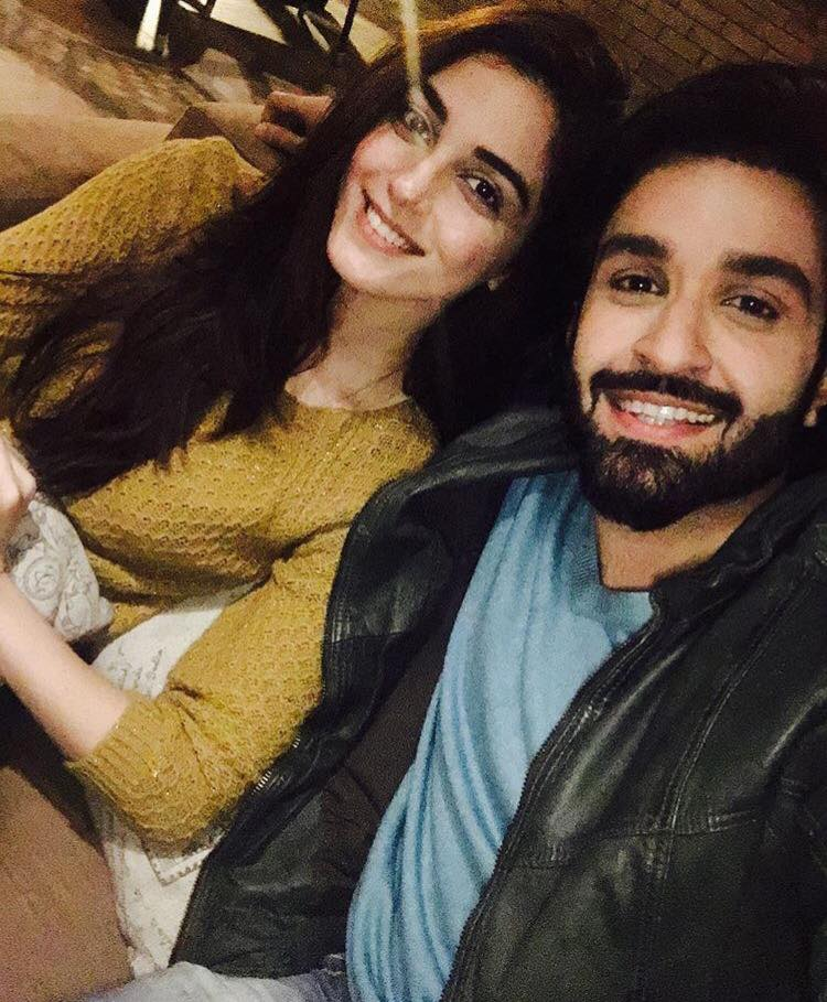 Lovely Selfie Of Maya Ali & Azfar Rehman
