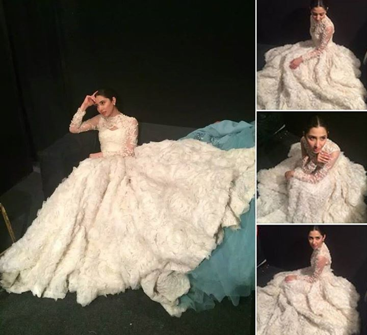 Mahira Khan 3rd Dress for Lux Style Awards 2015