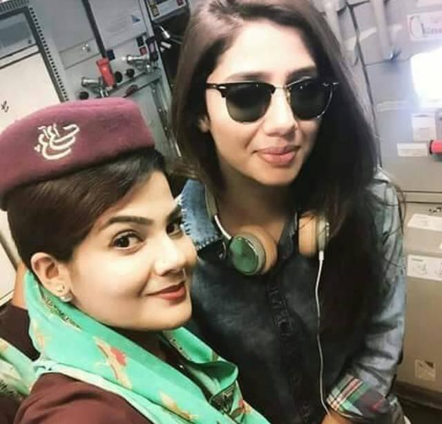 Mahira Khan Spotted On Board On PIA