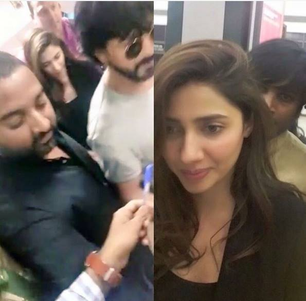 Mahira Khan and Shahrukh Khan spotted together at Ahmadabad Airport