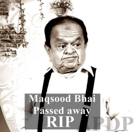Maqsood Tv Actor (Quddusi Sahab Ki Bewa) Passed Away