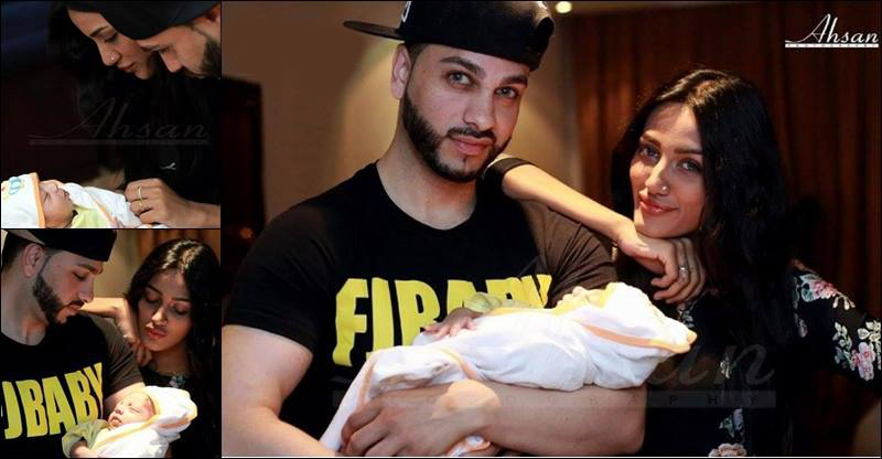 Mathira With Her Husband And Newly Born Baby