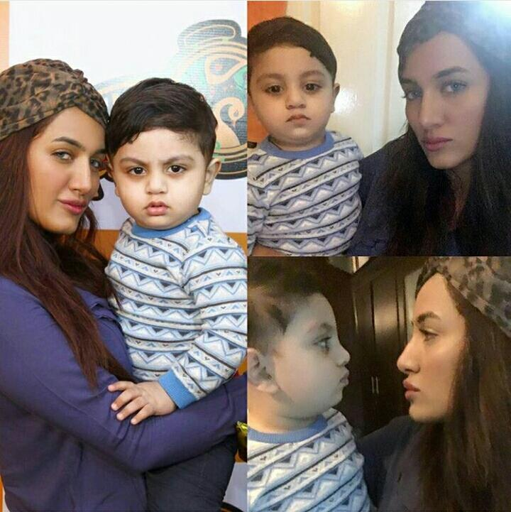 Mathira with cute Aahil