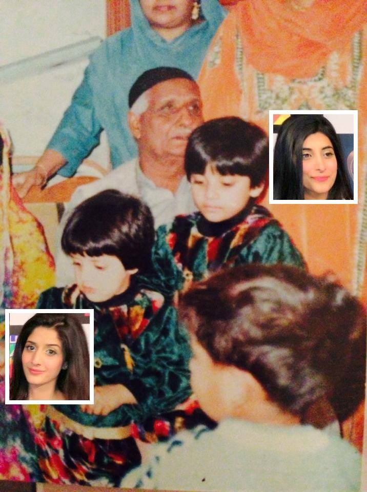 Mawra And Urwa Childhood Photo