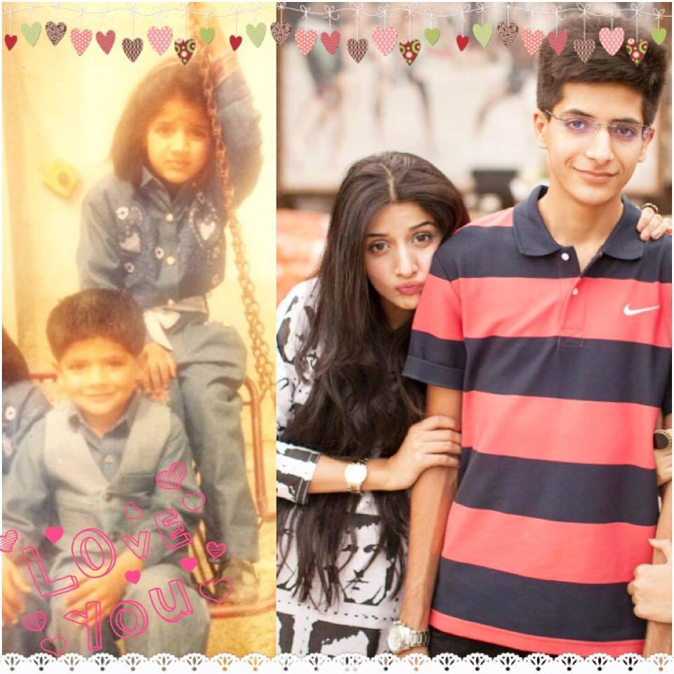 Mawra Hocane With Her Younger Brother
