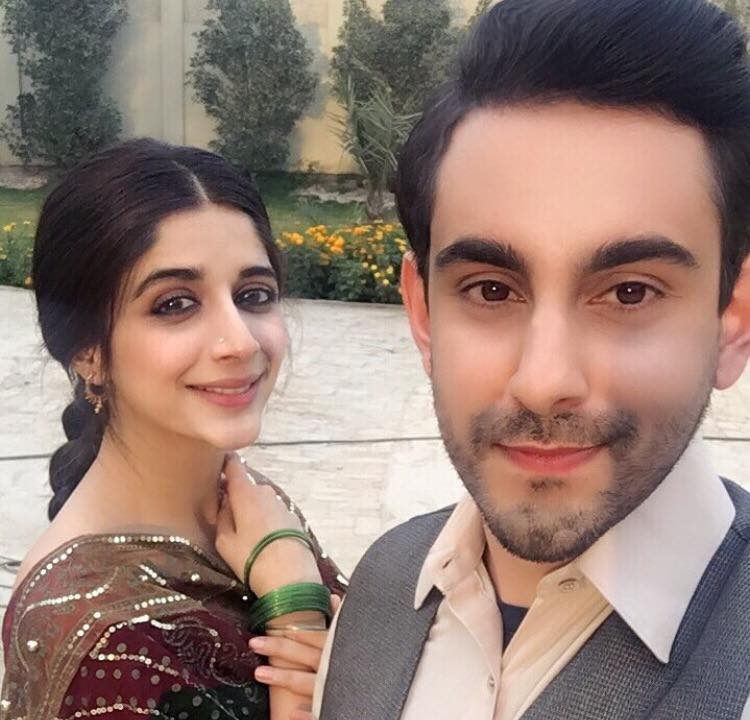 Mawra Hocane & Bilal Khan During Shooting