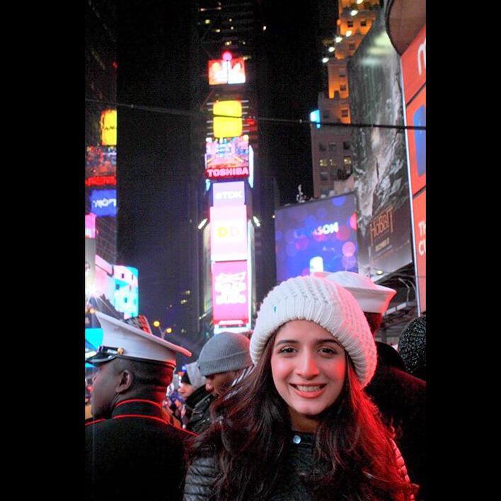Mawra Hocane at Times Square, New York