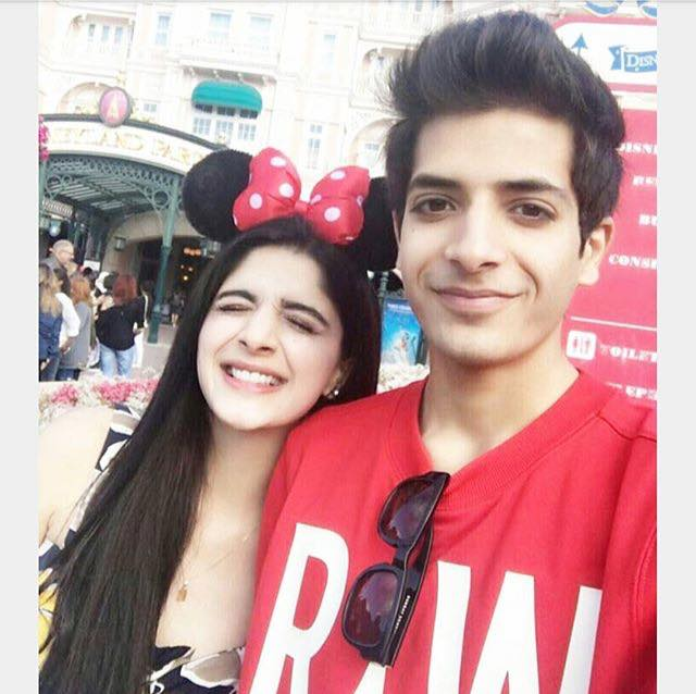 Mawra Hussain With Her Brother