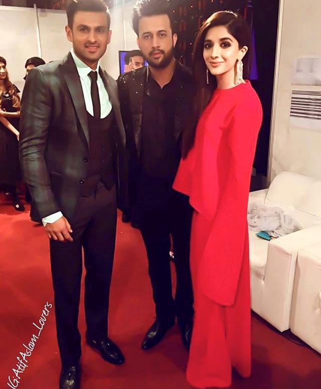 Mawra Hussain With Shoaib Malik & Atif Aslam