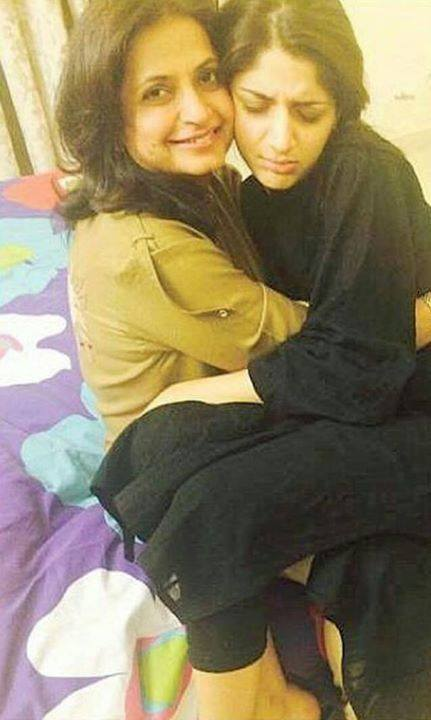 Mawra With Her Mother Wishing Her Birthday