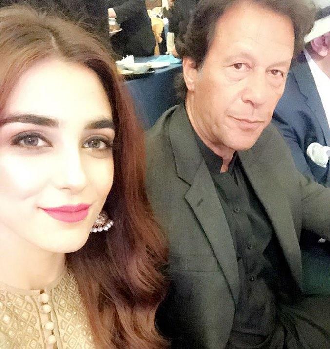 Maya Ali Selfie With Imran Khan