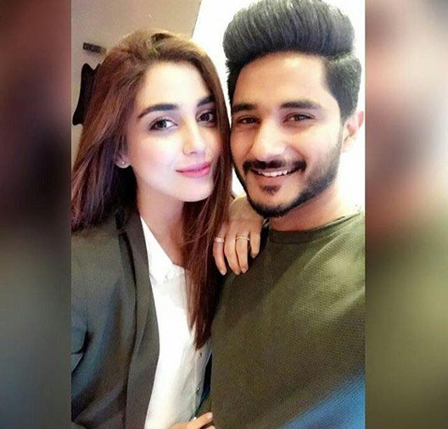Maya Ali With Her Brother