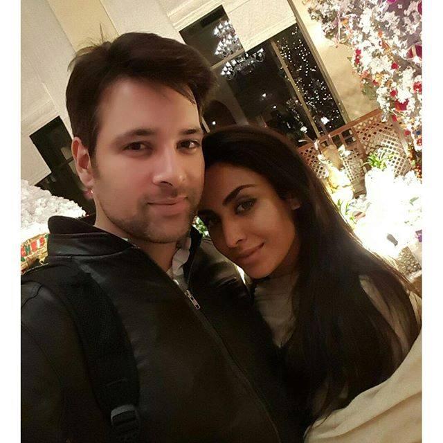 Meekal Zulfiqar with wife Sara