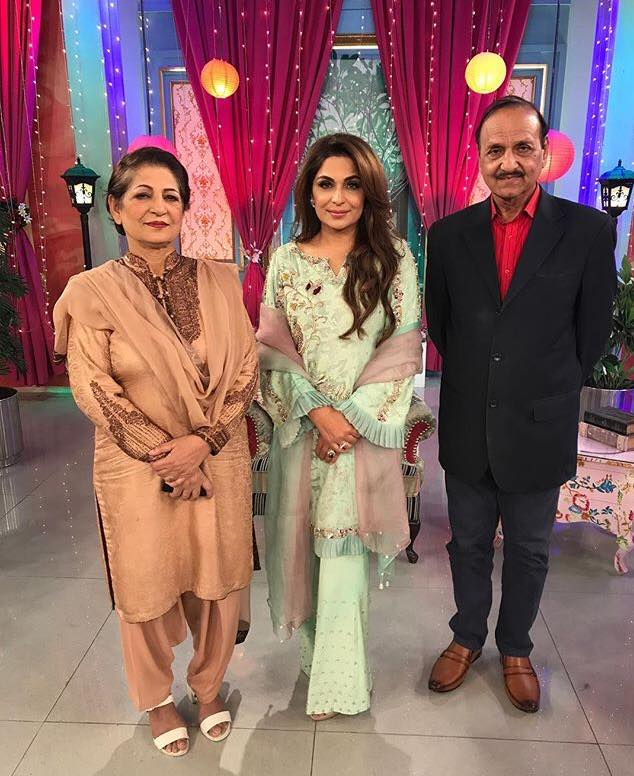 Meera With Her Mother & Father