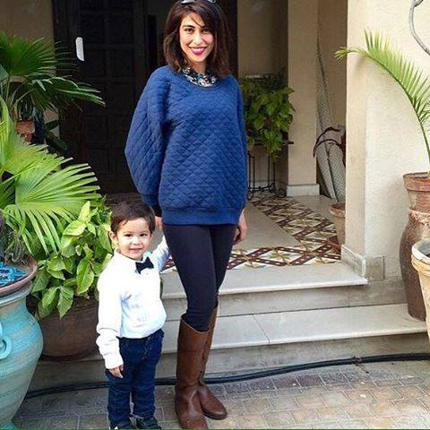 Meesha Shafi With Her Cute Son Celebrating His Birthday