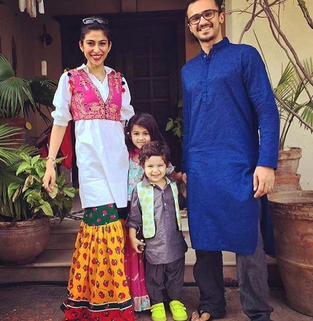 Meesha Shafi With Her Husband & Kids
