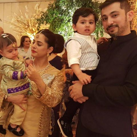 Mehreen raheal with her husband and cute Kids MashaAllah