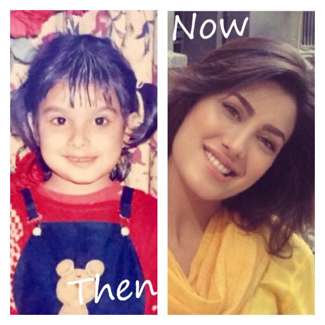 Mehwish Hayat Childhood Picture