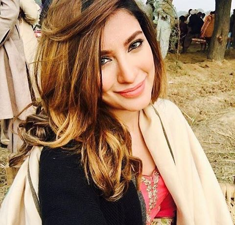 Mehwish Hayat On The Sets Of Her Upcoming Film