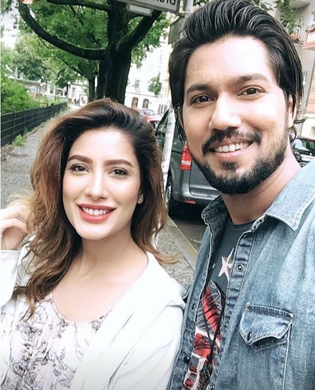 Mehwish Hayat With Her Brother Danish Hayat