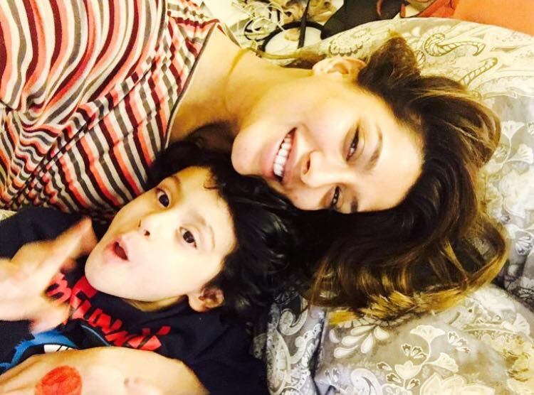 Mehwish Hayat With Her Nephew