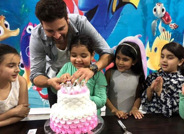 Mikaal Zulfiqar Celebrating His Daughter's Birthday