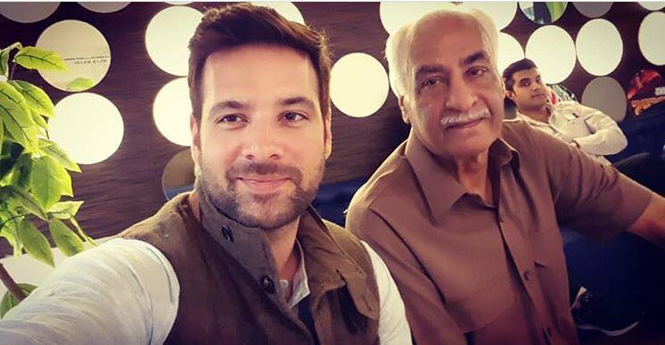 Mikaal Zulfiqar With His Father