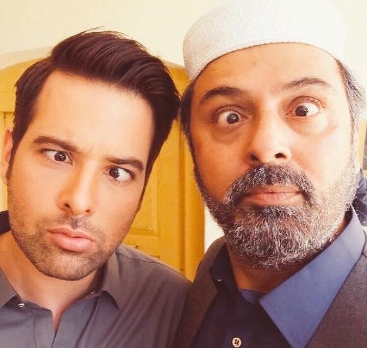 Mikaal Zulfiqar and Naumaan Ijaz During Shoot
