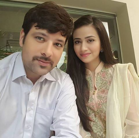 Mikaal Zulfiqar & Sana Javed For Drama Set