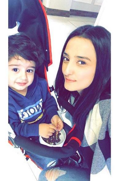 Momal Sheikh With Her Son