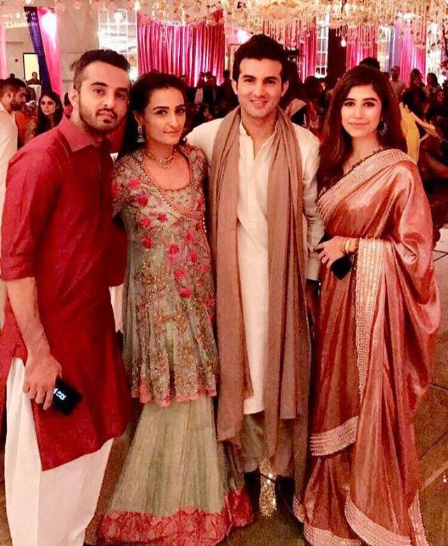 Momal Sheikh & Her Husband With Syra & Shehroz At Wedding