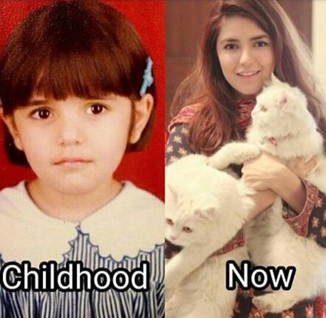 Momina Mustehsan Childhood Photo