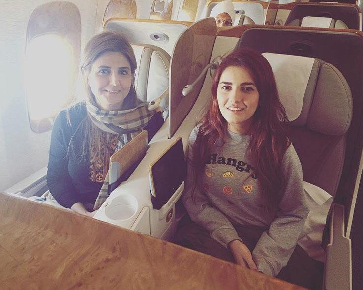 Momina Mustehsan On A Flight With Her Mother