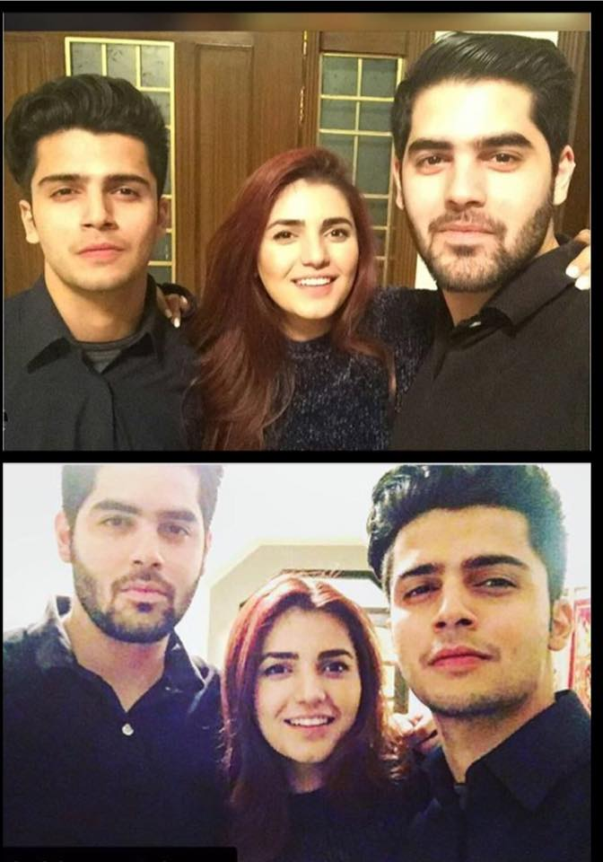 Momina Mustehsan With Her Brothers