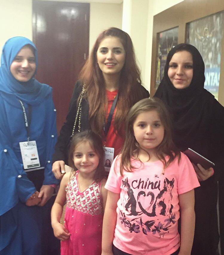 Momina Mustehsan With Shahid Afridi Daughters At PSL