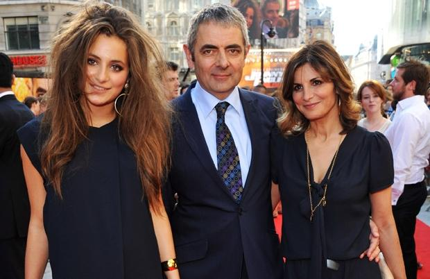 Mr. Bean with his Wife & Daughter