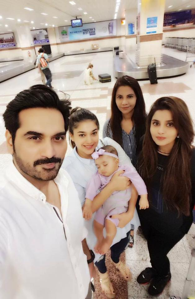 Mr and Mrs Humayun Saeed along with Sana & Sanam