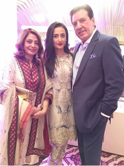 Mr & Mrs Javed Sheikh With Daughter Momal Sheikh
