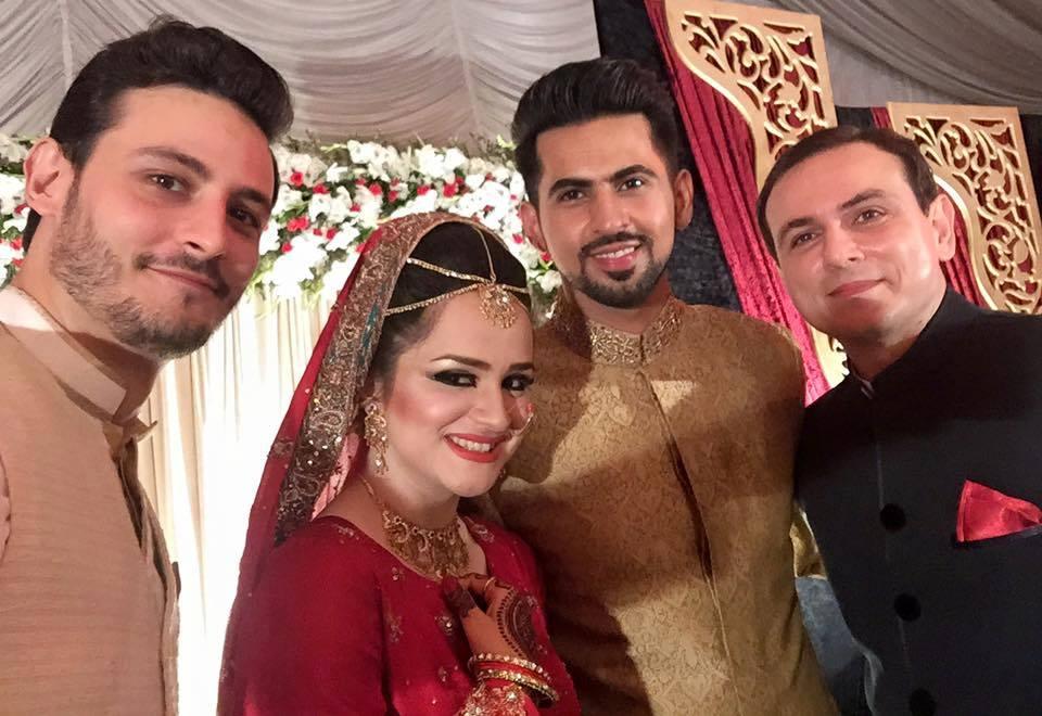 Mukarram Kaleem With Bride On Barat