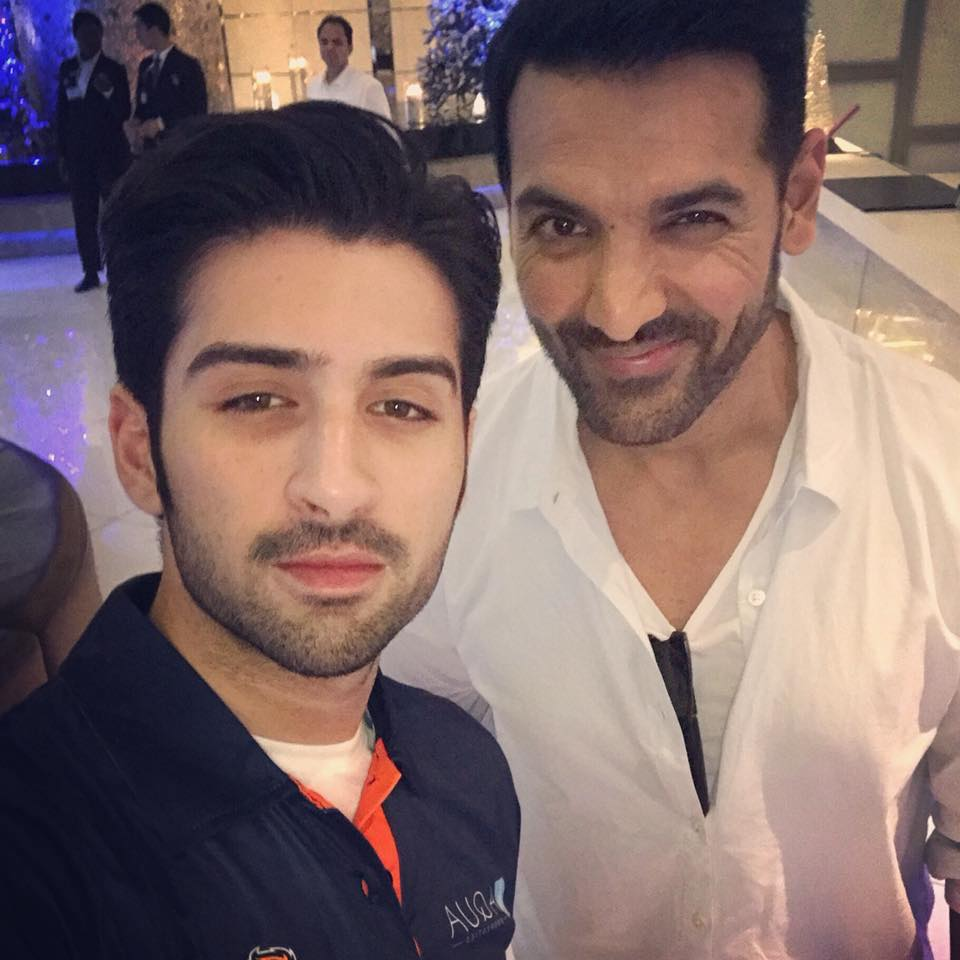 Muneeb Butt With John Abraham In Dubai