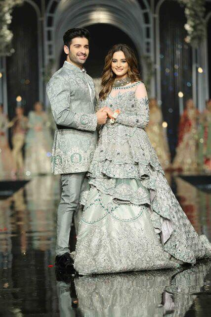 Muneeb Butt & Aiman Khan At Bridal Fashion Week