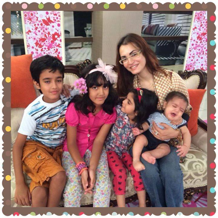Nadia Hussain With Her Kids