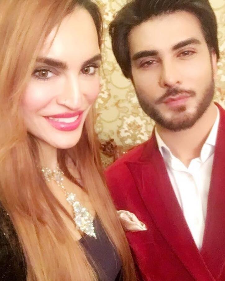 Nadia Hussain & Imran Abbas Attending An Event