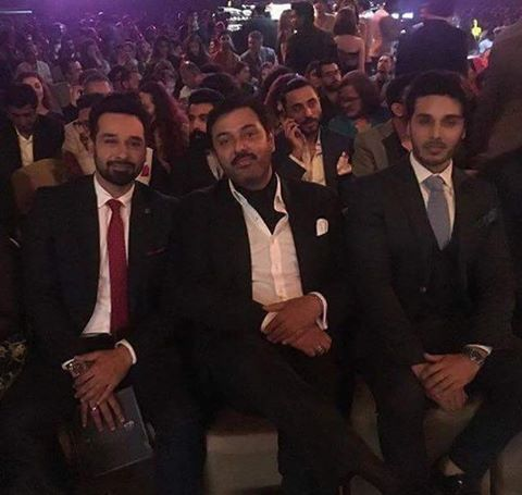 Nauman Ejaz With Faysal Quraishi & Ahsan Khan At Lux Style Awards