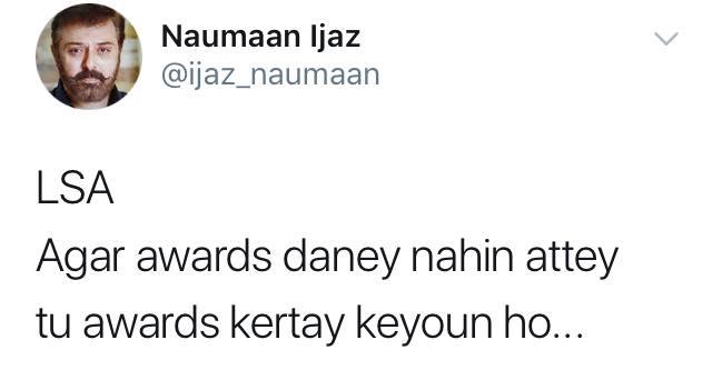Nauman Ijaz Statement About Lux Awards